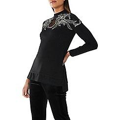 Coast - Black 'Rene' embellished knit top