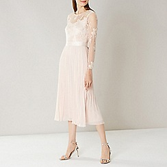 Coast - CREAM ODETTA LACE MIDI DRESS