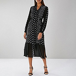Coast - Black Maribel Spot Shirt Dress