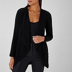 Coast - BLACK MARA WATERFALL KNIT CARDIGAN