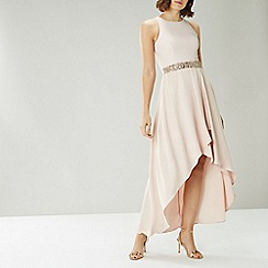 Coast - CREAM APRIL EMBELLISHED BELT DRESS