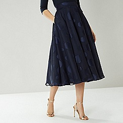 Coast - Navy Ruth Large Spot Skirt