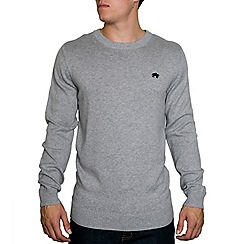 Raging Bull - Cotton/Cashmere Crew Neck Grey