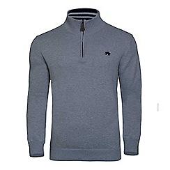 Raging Bull - Signature cotton and cashmere quarter zip jumper
