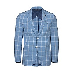 Raging Bull - Blue wool check blazer