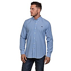 Raging Bull - Sky blue pin stripe poplin shirt