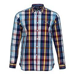 Raging Bull - Sky blue large check poplin shirt