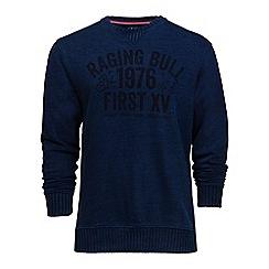 Raging Bull - Indigo graphic jersey sweatshirt