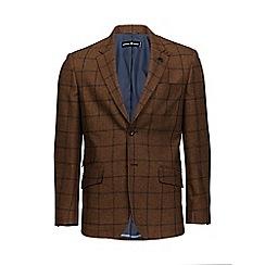Raging Bull - Brown window pane check blazer