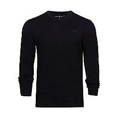 Raging Bull - Black V-neck cotton sweater