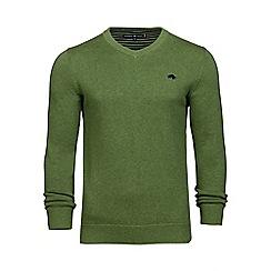 Raging Bull - Green v-neck cotton sweater