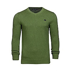 Raging Bull - Green V-neck cotton sweater