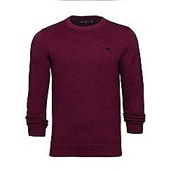 Raging Bull - Burgundy crew neck cotton sweater