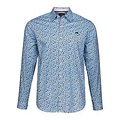 Raging Bull - Sky blue blossom print shirt