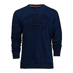 Raging Bull - Indigo graphic jersey sweatshirt