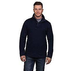 Raging Bull - Navy pigment pique 1/4 zip sweatshirt