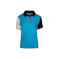 Raging Bull - Electric blue contrast sleeve polo shirts