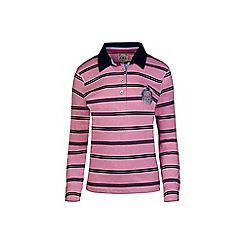 Raging Bull - Pink long sleeves stripe rugby shirt