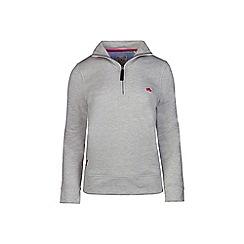 Raging Bull - Grey marl 1/4 zip sweatshirts