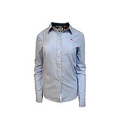 Raging Bull - Blue long sleeve cotton Oxford shirt