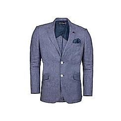 Raging Bull - Mid blue linen check blazer