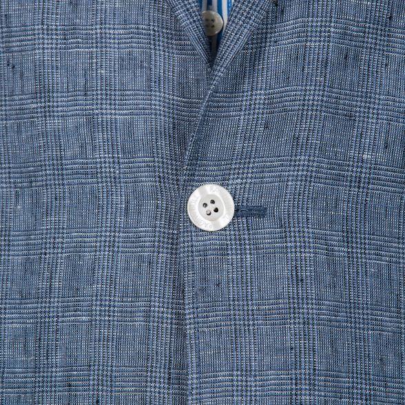 check linen Raging blue Bull blazer Mid qFS6Uxw4I