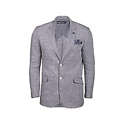 Raging Bull - Big and tall stone linen check blazer