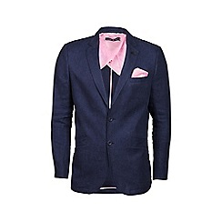 Raging Bull - Big and tall navy linen blazer