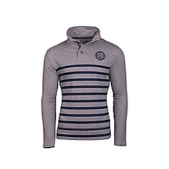 Raging Bull - Stripe jersey button neck rugby shirt