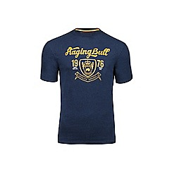Raging Bull - Big and tall navy crest t-shirt