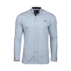 Raging Bull - Big and tall white long sleeve ditzy print shirt