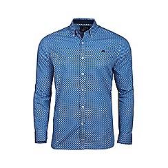 Raging Bull - Big and tall blue long sleeve paisley shirt