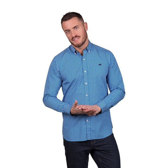 paisley sleeve tall shirt Raging and Big long blue Bull 0wFAYz