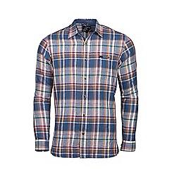 Raging Bull - Big and tall navy long sleeve large check shirt
