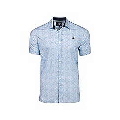 Raging Bull - Big and tall white short sleeve micro floral shirt