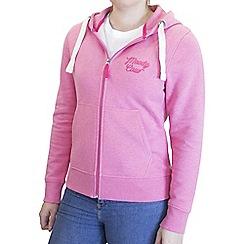 Raging Bull - Pink moody cow zip through hoodie