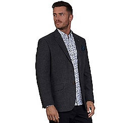 Raging Bull - Grey soft touch houndstooth blazer