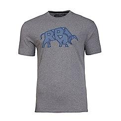 Raging Bull - Raging bull applique grey t-shirt