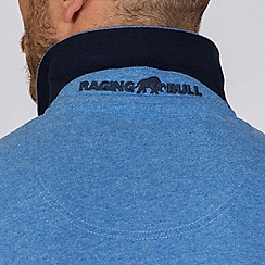 Raging Bull - Navy embroidered marl polo shirt