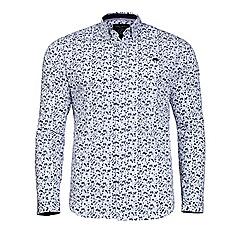Raging Bull - White micro floral print shirt