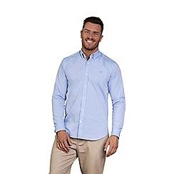 Raging Bull - Sky blue long sleeve pinpoint Oxford shirt