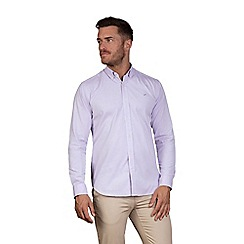 Raging Bull - Purple long sleeve pinpoint Oxford shirt