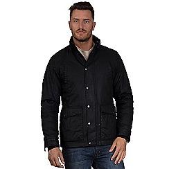 Raging Bull - Black 'Waxed Field' jacket