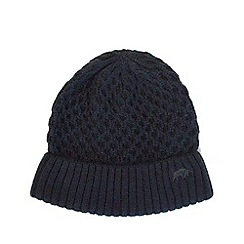 2a65caa0c6a Raging Bull - Navy Cable Knit Beanie hat