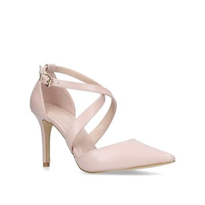 Carvela - Nude 'Kross 2' mid heel court shoes