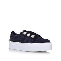 KG Kurt Geiger - Blue 'Orla' flat lace up sneakers