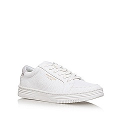 KG Kurt Geiger - White Valadez flat lace up sneakers
