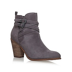 Miss KG - Grey 'Spike' high heel ankle boots
