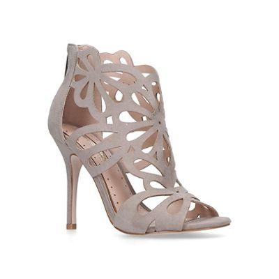 Miss KG heel - Grey 'flutter' high heel KG sandals 0e1e2d