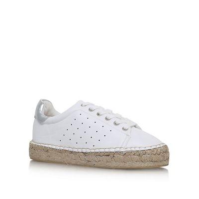 KG Kurt Geiger - White 'Billie' flat lace up sneakers